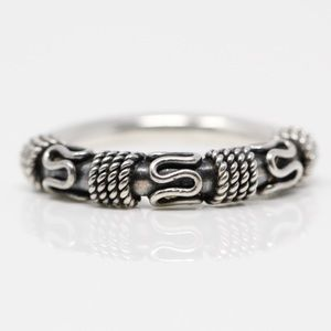 BALI Sterling Eternal Curve Braided Band Ring 8.25
